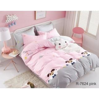 Комплект постельного белья с компаньоном R7624pink