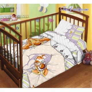 Дитяча постіль в ліжечко з простирадлом на резинці
