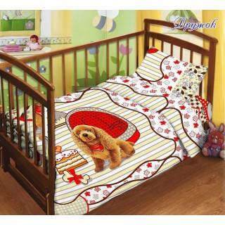Дитяча постільна білизна в ліжечко 110х140 Дружок