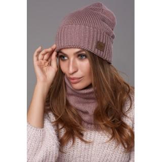 Комплект Божена шапка и хомут - шарф