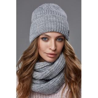 Комплект женский шапка и снуд - цвета в ассортименте
