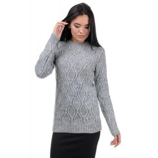 Стильний жіночий светр сірого кольору р.44-50