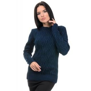 Стильний жіночий светр синього кольору р.44-50