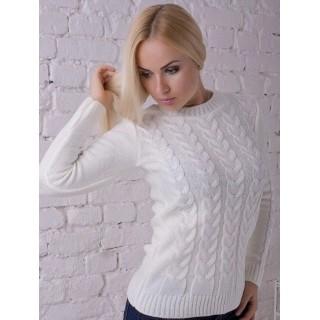 В'язаний светр Софія (Білий)