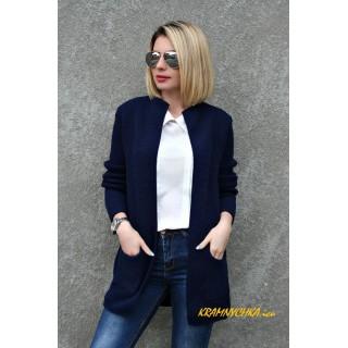 Купити недорого жіночий кардиган темно-синього кольору