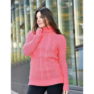 Женский свитер Натали розового цвета