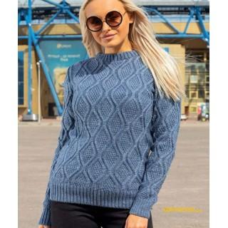 Стильний жіночий светр фіалкового кольору р.44-50