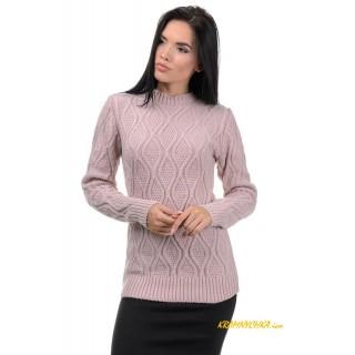 Стильний жіночий светр пудра р.44-50