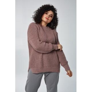 Вязаные свитера большого размера с люрексом