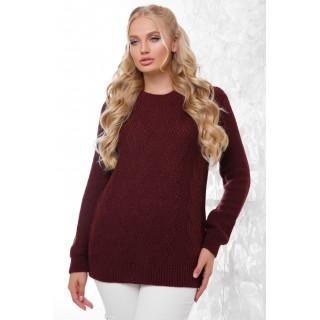 Бордовий светр жіночий великого розміру