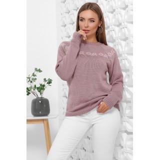 Жіночі светри з орнаментом пилкова троянда