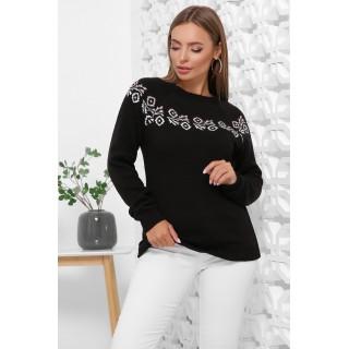 Чорні жіночі светри з орнаментом