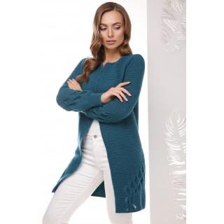 Купити модний кардиган на гудзику хвиля розмір 44-50
